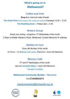 What's going on in Wellswood July