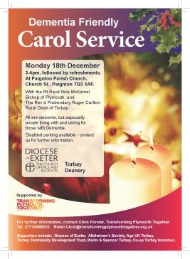 Dementia Friendly Carol Service Paignton 2017 (A5) for print