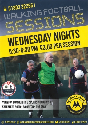 Walking Football leaflet