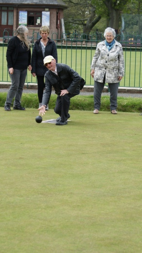 Playing Bowls outside Torre Abbey, Torquay.