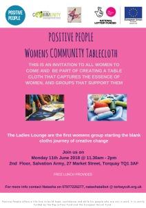 Womens Community Table Cloth June 2018