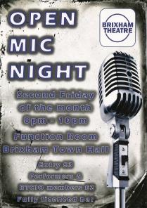 Brixham theatre Open mic night