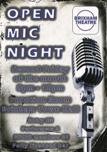 Brixham theatre Open mic night
