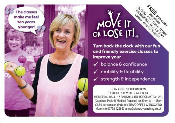 Move it or Lose it Memorial Hall OctDec18