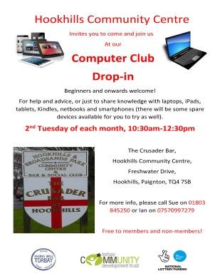 Hookhills Community Centre Computer Club 2019