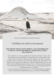 healthy menopause support group flyer for reception
