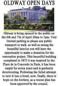 Oldway open days April 19